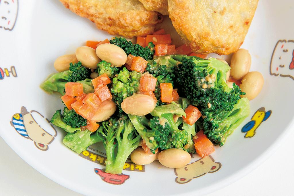 ブロッコリーと大豆のサラダ(マヨネーズ不使用)