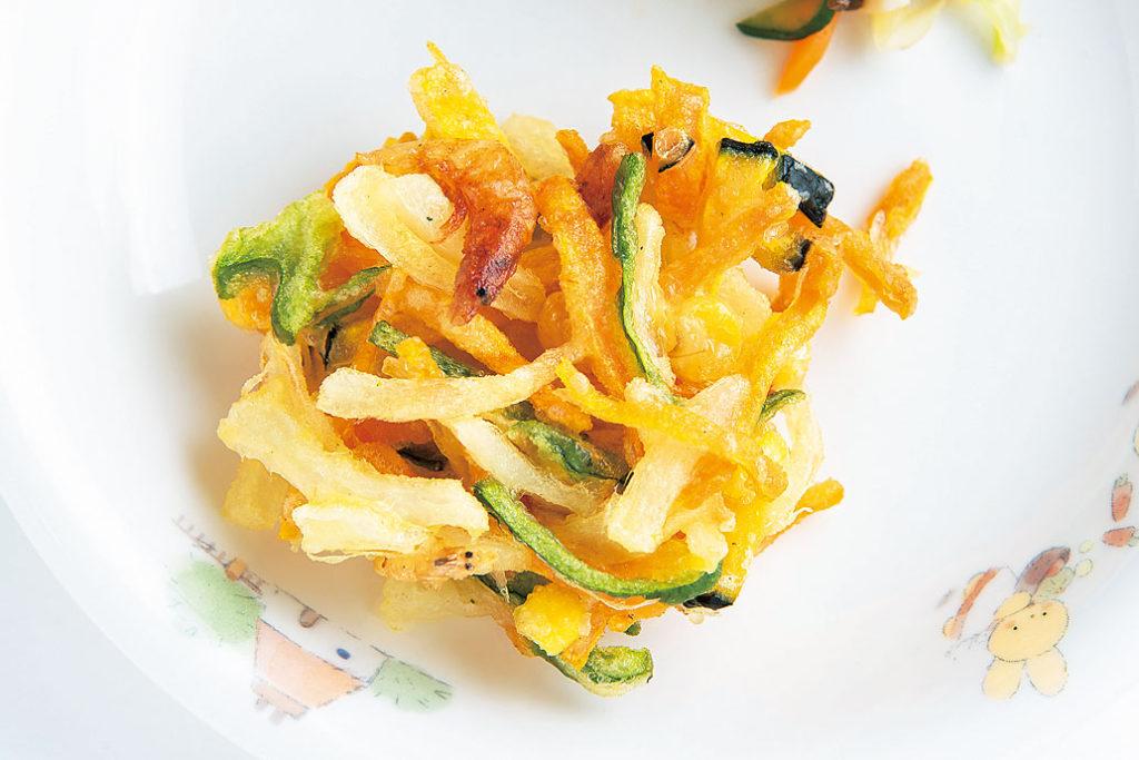 夏野菜のかき揚げ