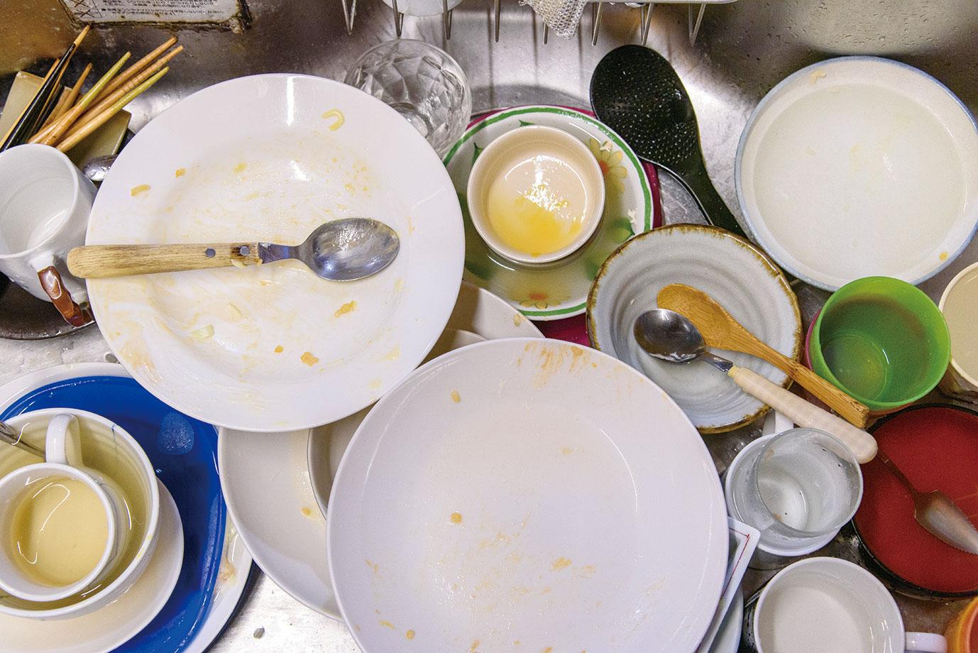 食洗機で洗う前の予洗いや、置いている間の菌の増殖防止にも最適。